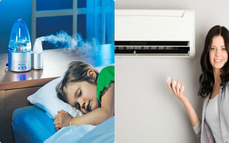 Nên giữ cho phòng có độ ẩm nhất định khi bật máy lạnh